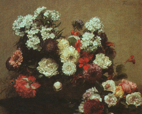 Henri Fantin-Latour. Still life with flowers
