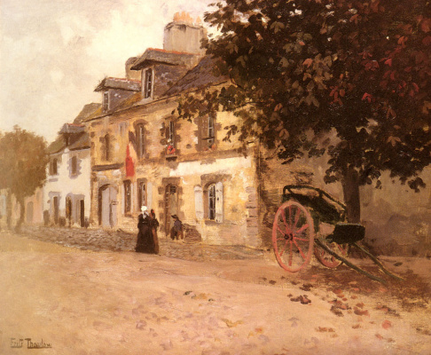 Frits Thaulow. Village street in France