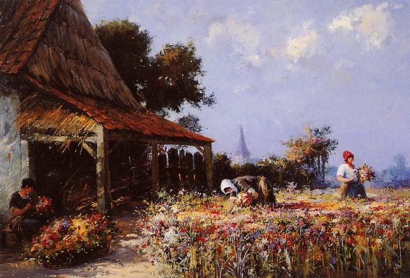 Виллем Батай. Цветочное поле