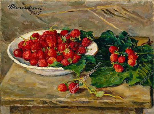 Petr Petrovich Konchalovsky. Still life with strawberries