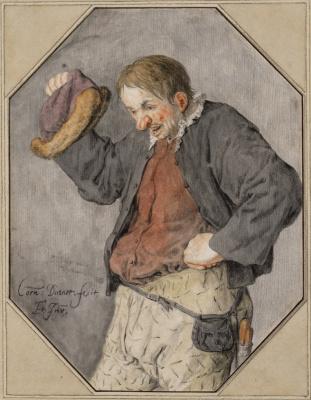 Корнелис Дюсарт. Поющий крестьянин