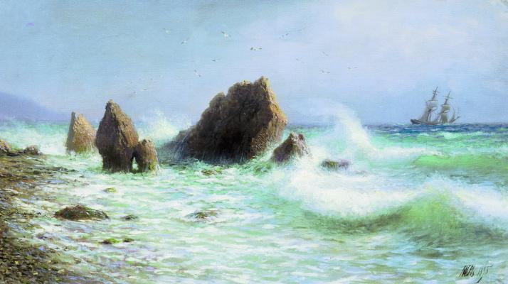 Lev Feliksovich Lagorio. Off the coast of Livadia