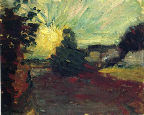 Henri Matisse. Sunset in Corsica