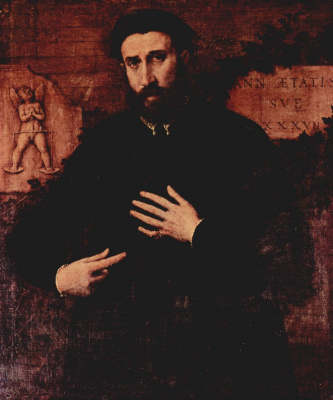 Lorenzo Lotto. Portrait tridtsatisemiletny men