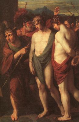 Бенджамин Уэст. Пилад и Орест, принесены в жертву