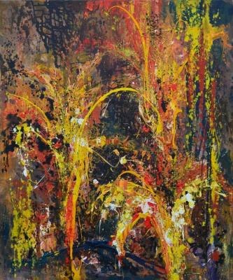 "Tanya Vasilenko. ""Dawn"", acrylic on canvas. Sunrise. Acrylic on canvas"
