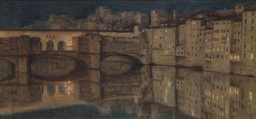 William Holman Hunt. Ponte Vecchio, Florence