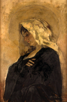 Joaquin Sorolla (Soroya). The Virgin Mary