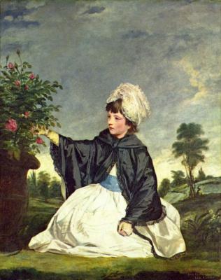 Joshua Reynolds. Portrait of lady Caroline Howard