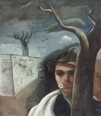 Феликс Нуссбаум. Автопортрет с яблоневым цветком
