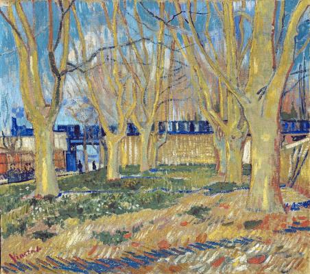 Винсент Ван Гог. Аллея деревьев возле станции Арль