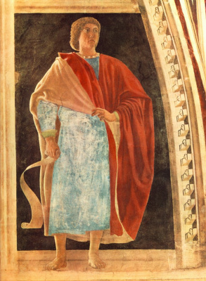 Piero della Francesca. The prophet. The frescos in the Church of San Francesco in Arezzo