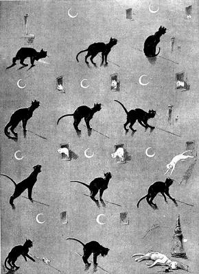 Теофиль-Александр Стейнлен. Кошки: картины без слов. Кошачьи драмы и опасные шаги