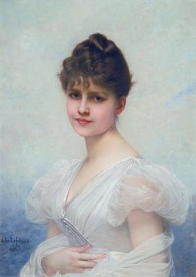 Jules Joseph Lefebvre. Портрет Эдит Кэролайн Уоррен-Миллер (1866-1944). 1885