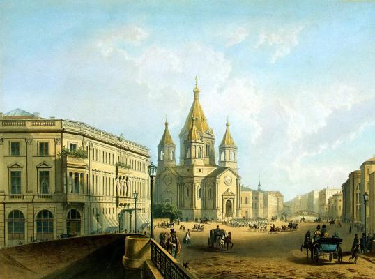 Шарль Клодт Жакотте. Вид Благовещенской площади