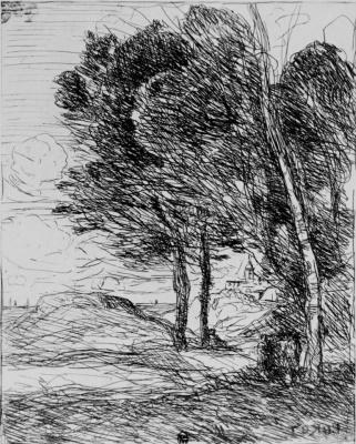 Camille Corot. Landscape near Genoa