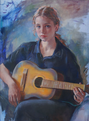 Ljubov Belych. Girl with guitar