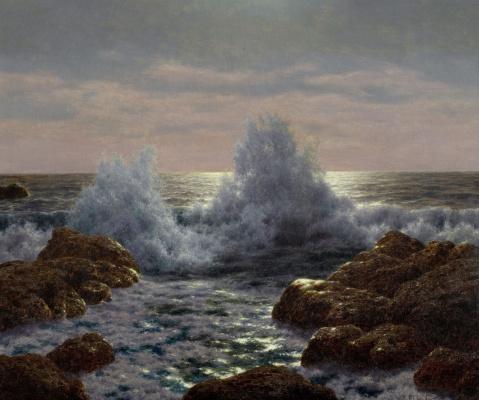 Иван Федорович Шультце. Волны на берегу
