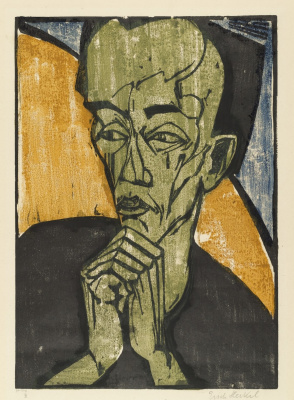 Erich Heckel. Portrait of a man