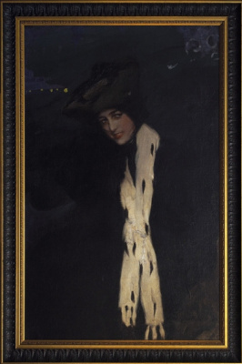 Pavel Dmitrievich Shmarov Russia - France 1874 - 1950. Female portrait (Anna Pavlova). 1900s — 1910s
