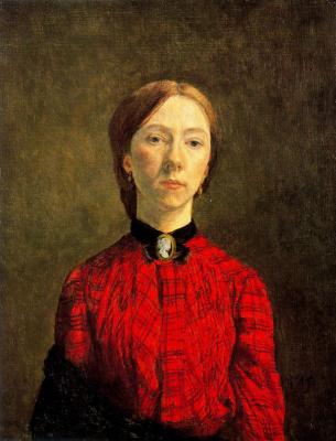 Гвен Джон. Женщина в красной блузке
