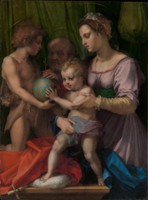 Андреа дель Сарто. Святое семейство с юным Святым Иоанном Крестителем. Деталь