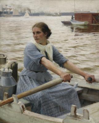Альберт Густав Аристид Эдельфельт. Молочница. 1889
