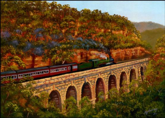 Дениз Сиденхам. Поезд на мосту