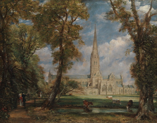 John Constable. View of Salisbury Cathedral from the Park of the Bishop