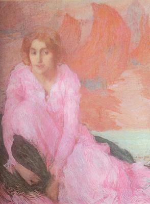 Эдмон Франсуа Аман-Жан. Дама в розовом