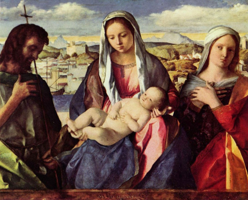Мадонна с Иоанном Крестителем и неизвестной святой