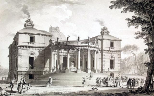 Шарль де Вайи. Проект павильона наук и искусств в Английском парке