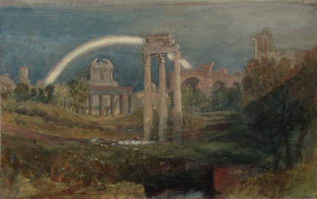 Джозеф Мэллорд Уильям Тёрнер. Вид на Римский форум с радугой