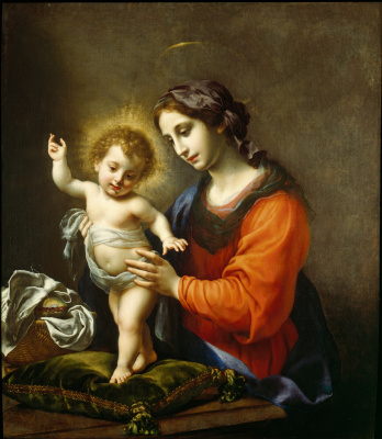 Carlo Dolci. The virgin and child
