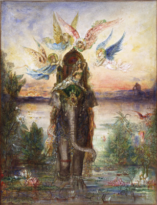 Gustave Moreau. Holy Elephant (Peri)