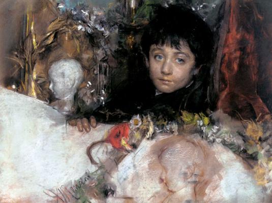 Антонио Манчини. Портрет молодого мальчика