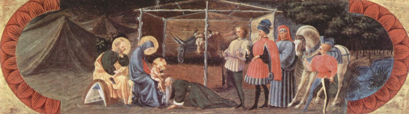 Paolo Uccello. Predella Guaranty the altar from the Central part. The adoration of the Magi