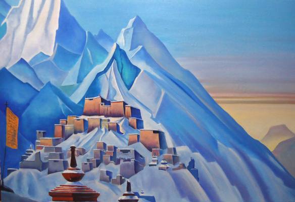 "Sergey Mogilev. A free copy of the picture N. Roerich in a series of ""Tibet"""