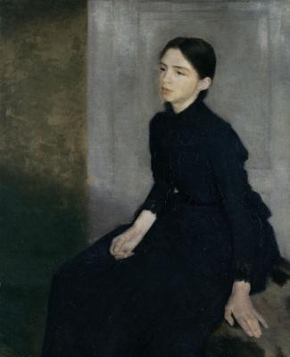 Вильгельм Хаммерсхёй. Портрет девушки (Анна, сестра художника)