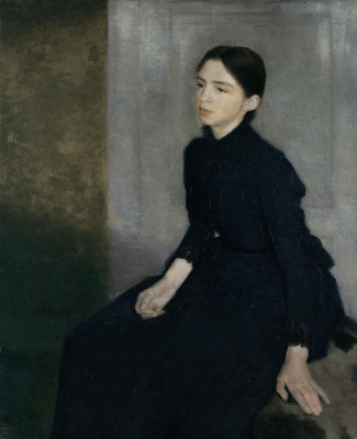 Vilhelm Hammershøi. Portrait of a girl (Anna, artist's sister)