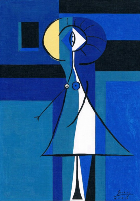 Arturo Carmona. Женщина с синим оттенком (эскиз)