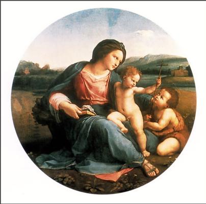 Эдит Воннегут. Мадонна с младенцем и Иоанном