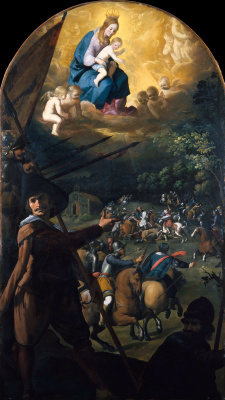 Франсиско де Сурбаран. Битва между христианами и маврами в Эль-Котильо