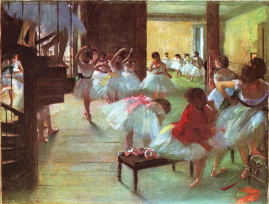 Edgar Degas. Ballet shoes