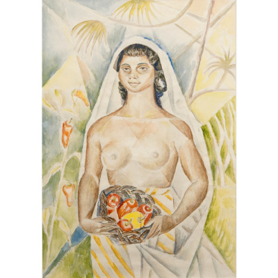 Мария Брониславовна Маревна (Воробьева-Стебельская). Негритянка с перцами. 1938  графитный карандаш