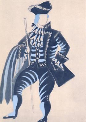 "Pablo Picasso. Costume design Miller for the ballet ""Tricorne"""