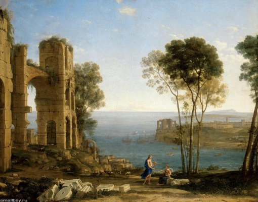 Claude Lorrain. Landscape with Apollo and the cumaean Sibyl