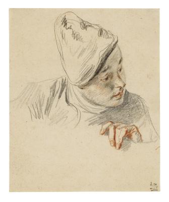 Antoine Watteau. Portrait of a young man