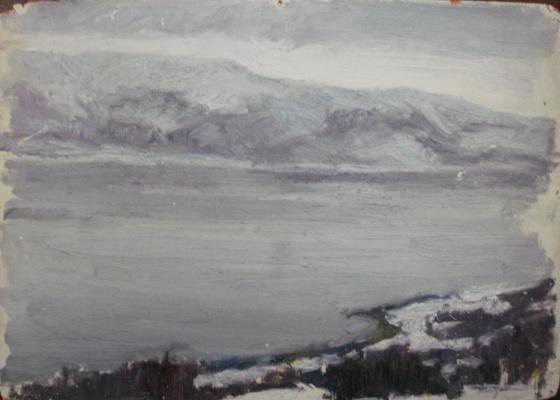 Nina Vasilievna Sedova. Snow covered fells
