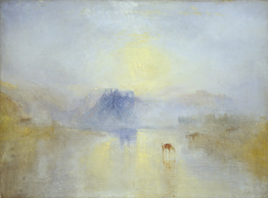 Joseph Mallord William Turner. Castle NOREM at dawn
